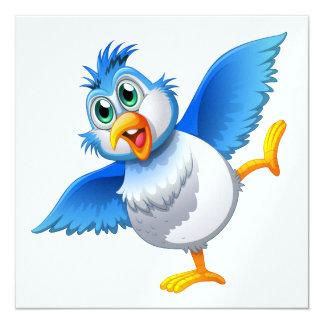 """Pájaro del tiempo del fiesta invitación 5.25"""" x 5.25"""""""