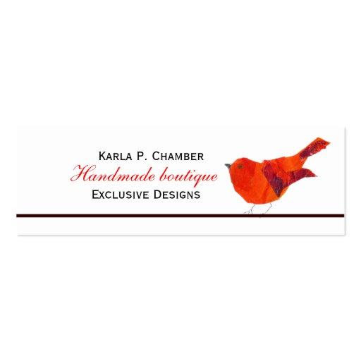 Pájaro del verano colorido tarjetas de visita mini