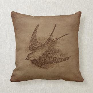 Pájaro del vintage de Steampunk Cojines