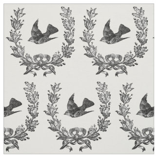 pájaro del vintage en una tipografía del diseño de telas