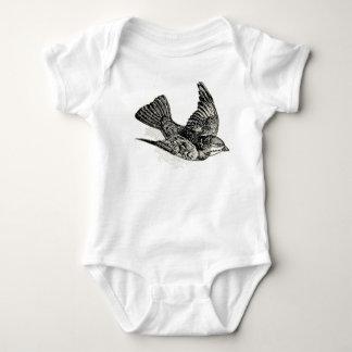 Pájaro del vintage mameluco de bebé