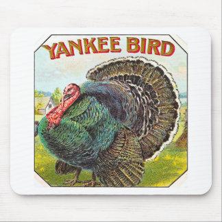 Pájaro del yanqui - etiqueta del cigarro del vinta tapete de raton