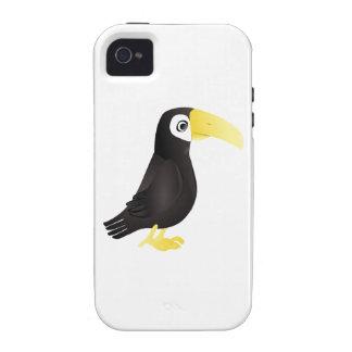 Pájaro derecho de Toucan del dibujo animado que iPhone 4/4S Funda