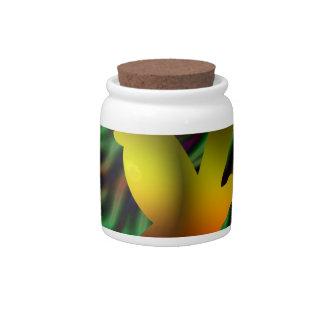 pájaro digital jarras para caramelos