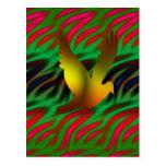 pájaro digital postal