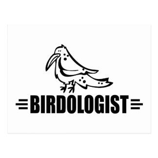 Pájaro divertido postal