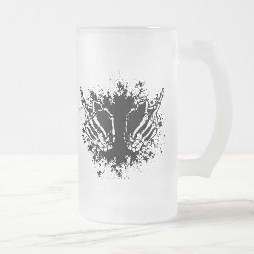 Pájaro doble taza de café