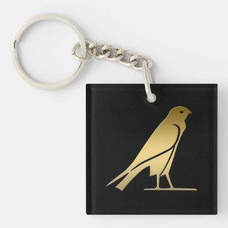 Pájaro egipcio antiguo - diosa Nekhbet Llavero Cuadrado Acrílico A Doble Cara