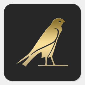 Pájaro egipcio antiguo - diosa Nekhbet Pegatina Cuadrada