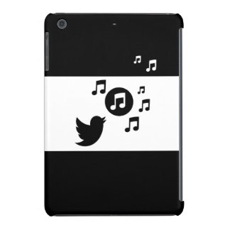 Pájaro elegante moderno del canto notas musicales fundas de iPad mini retina