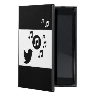 Pájaro elegante moderno del canto notas musicales iPad mini protectores