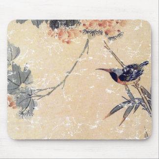 Pájaro en bambú tapete de ratón
