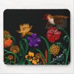 pájaro en caja de la flor tapetes de ratones