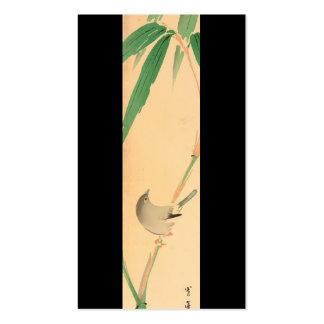 Pájaro en el árbol de bambú de Seitei Watanabe 185 Tarjetas De Visita