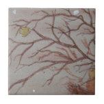 Pájaro en el arbusto azulejos cerámicos