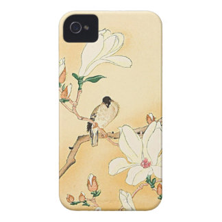 Pájaro en el caso del iPhone 4 de la magnolia iPhone 4 Case-Mate Cobertura