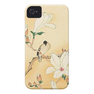 Pájaro en el caso del iPhone 4 de la magnolia herm iPhone 4 Case-Mate Cobertura
