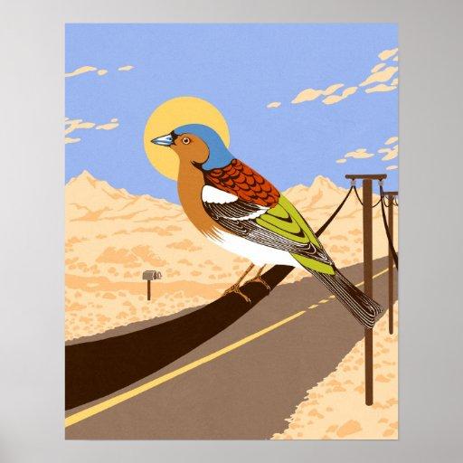 Pájaro en el desierto posters