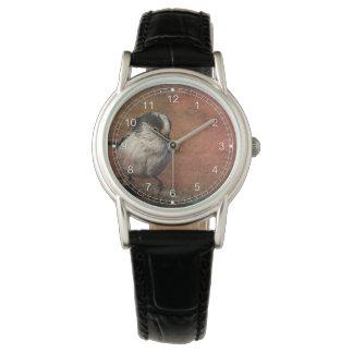 Pájaro en el haz relojes de pulsera