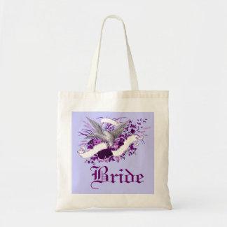 Pájaro en el ramo (púrpura) bolsa