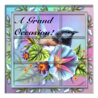 Pájaro en invitaciones de las invitaciones del invitación 13,3 cm x 13,3cm