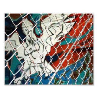 Pájaro en jaula impresión fotográfica