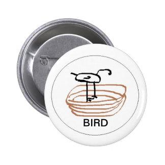pájaro en jerarquía pin redondo 5 cm