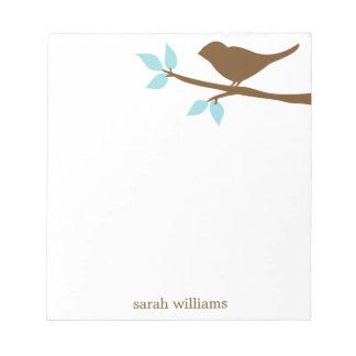 Pájaro en las libretas personalizadas una rama libreta para notas