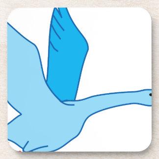 Pájaro en marcha posavasos de bebida