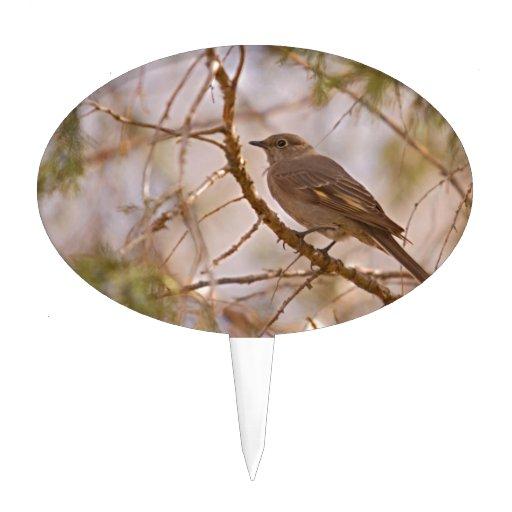 Pájaro en rama decoración de tarta