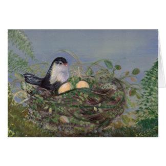 Pájaro en tarjeta de la jerarquía