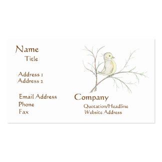Pájaro en tarjetas de una visita del árbol tarjeta de visita