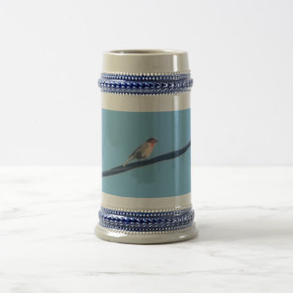 Pájaro en un alambre taza de café