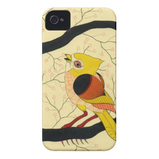 pájaro en un árbol iPhone 4 Case-Mate cobertura