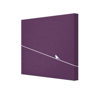 Pájaro en un arte de la lona del alambre