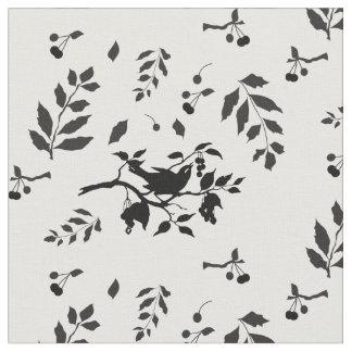 Pájaro en un cerezo telas