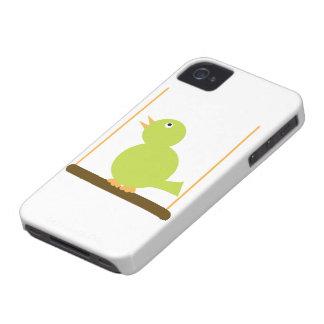 Pájaro en una caja de la casamata de la perca iPhone 4 fundas