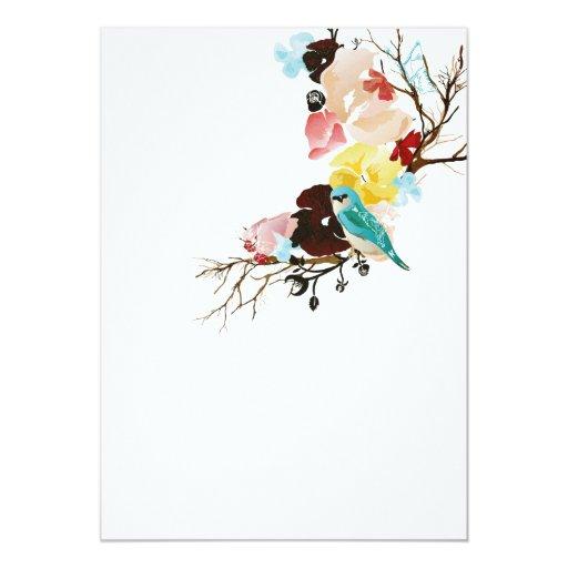 Pájaro en una invitación del árbol