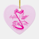 Pájaro en una nota musical con rosa de las flores ornamento para reyes magos