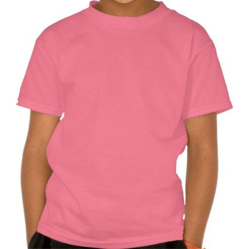 Pájaro en una nota musical con rosa de las flores camiseta