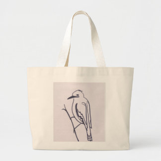 Pájaro en una rama bolsas