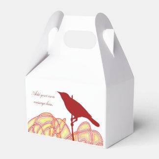 Pájaro en una rama cajas para regalos de fiestas