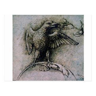Pájaro en una rama de Andrea Mantegna Tarjeta Postal