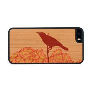 Pájaro en una rama funda de cerezo carved® para iPhone 5 slim