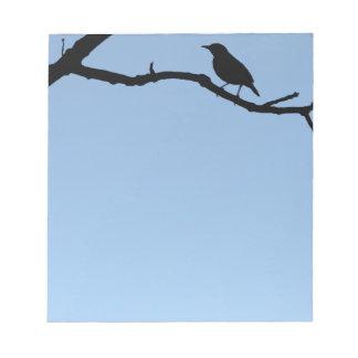 Pájaro en una rama libretas para notas