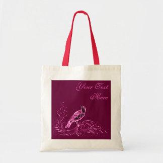 Pájaro en una voluta (rosa) bolsas