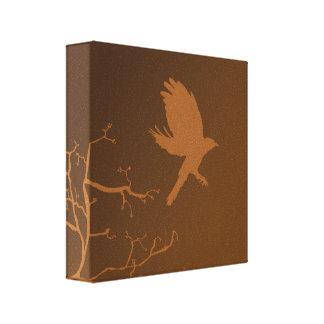 Pájaro en vuelo impresión en lienzo estirada