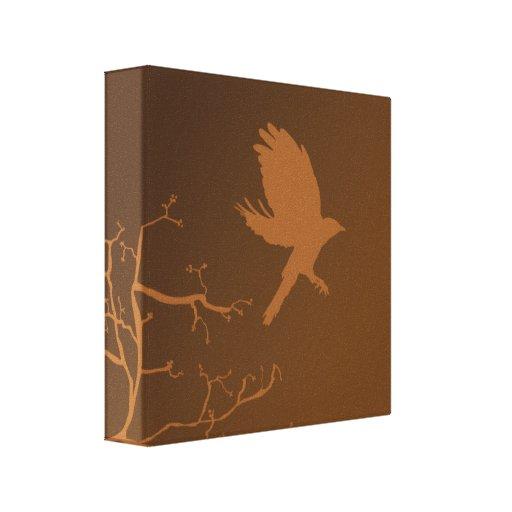 Pájaro en vuelo lona envuelta para galerías