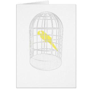 Pájaro enjaulado tarjetas