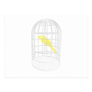 Pájaro enjaulado tarjetas postales